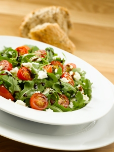 Iris'-Arugula-Tomato-and-Feta-Cheese-Salad-with-Traditional-Balsamic Vinegar