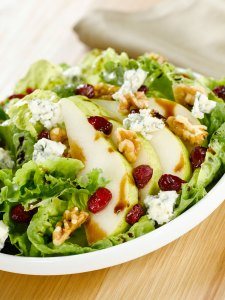 Ann's Harvest Salad for Two with Pomegranate Balsamic and Lime Olive Oil