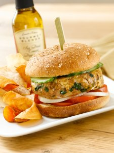 Iris' Greek Turkey Burgers