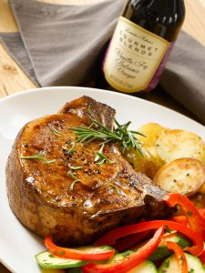 Iris' Pork Chops with Vanilla Fig Balsamic Vinegar and Fresh Rosemary