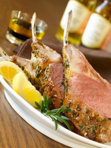 Roast Rack of Lamb with Sun Dried Tomato Dipping Oil